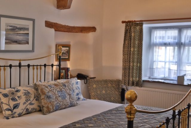 Image of a bedroom at the West Arms, the perfect Snowdonia Accommodation.
