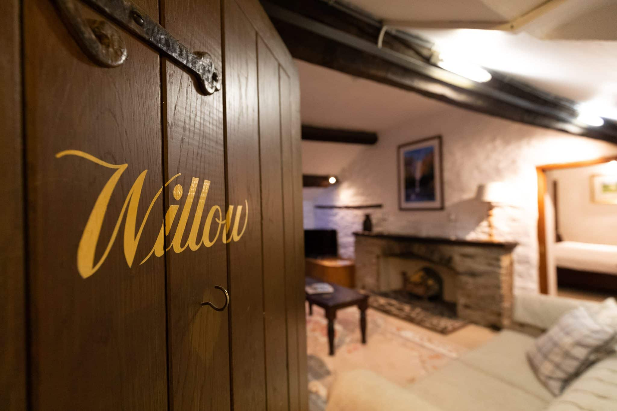 Image of willow suite at The West Arms, luxury hotel in Snowdonia.