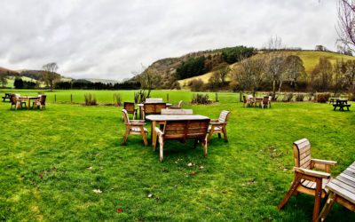 The West Arms' award winning outdoor beer garden reopens in North Wales